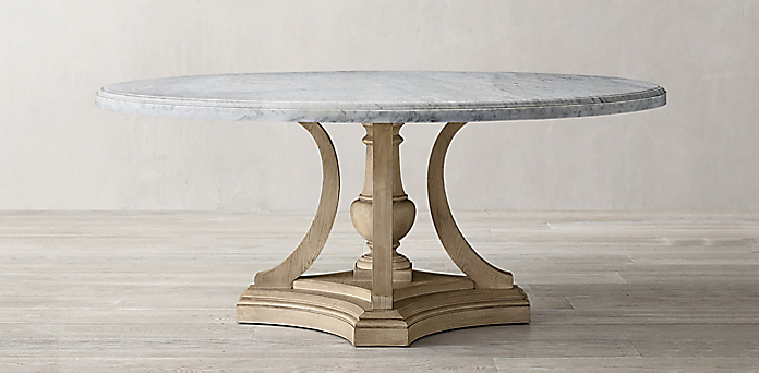 St James Marble Round Dining Table Collection Rh