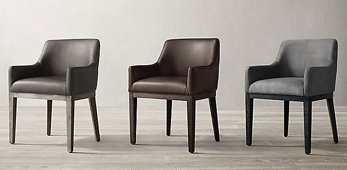 Pleasing Morgan Curved Back Track Arm Leather Dining Chair Collection Machost Co Dining Chair Design Ideas Machostcouk