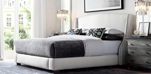 Warner Fabric Bed Collection RH