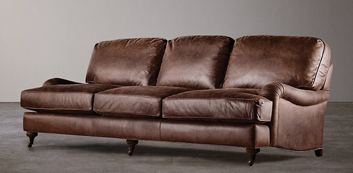 english roll arm sofa English Roll Arm Leather Collection | RH english roll arm sofa