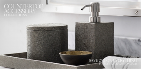 Beau Bath Countertop Collections. Shagreen Bath Accessories