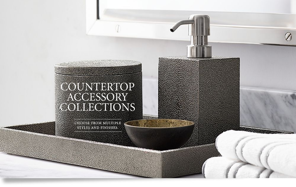 Countertop accessories rh for Bath countertop accessories