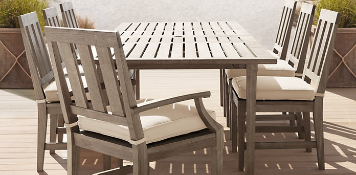 Dining rh for Restoration hardware teak outdoor furniture