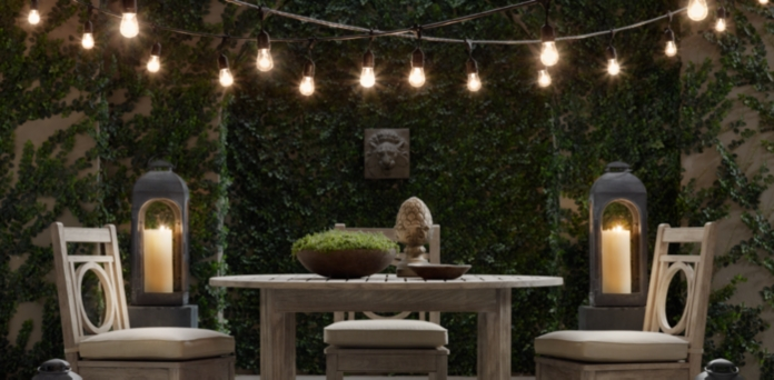 Vintage Backyard Lights : String Lights  Restoration Hardware