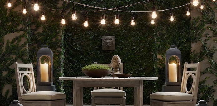 String lights restoration hardware Outdoor string lighting