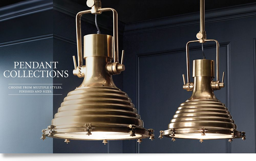 Pendants rh for When is restoration hardware lighting sale