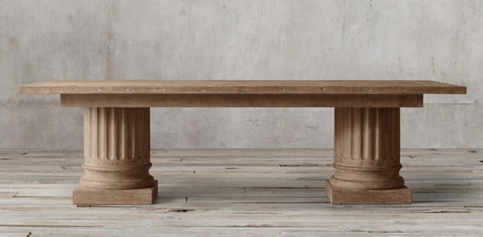 Popular Salvaged Wood Architectural Column Collection Beautiful - Contemporary restoration hardware salvaged wood table For Your Home