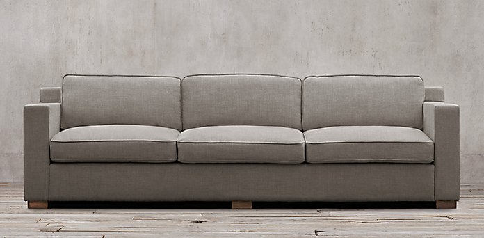 Maxwell sofa restoration hardware preconfigured maxwell for Small sectional sofa restoration hardware