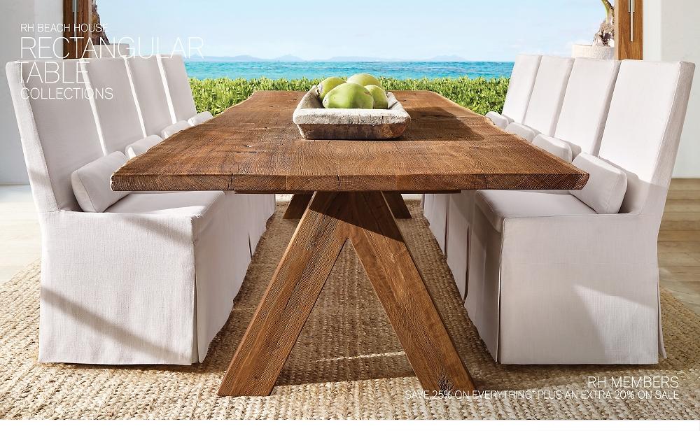 Shop RH Beach House Rectanuglar Tables