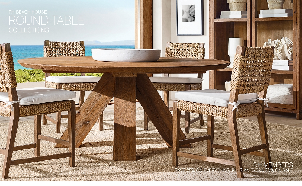Shop RH Beach House Round Tables