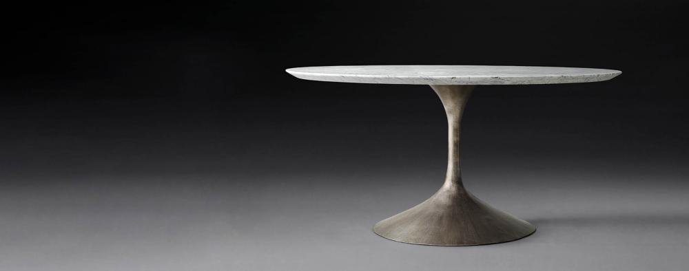 Aero Marble Oval Dining Table Rh Modern