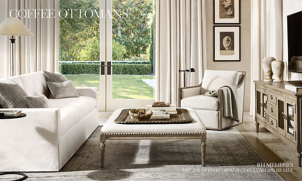 Pleasing Coffee Ottomans Rh Gmtry Best Dining Table And Chair Ideas Images Gmtryco
