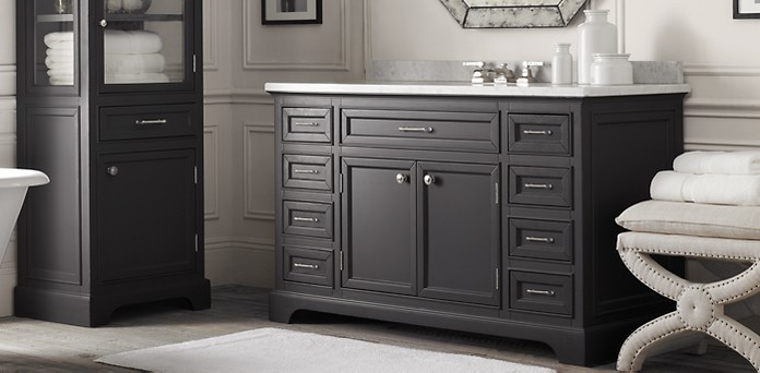 Kent Bath Collection   Obsidian Polished Nickel   RH. Kent Bathroom Vanity Restoration Hardware. Home Design Ideas