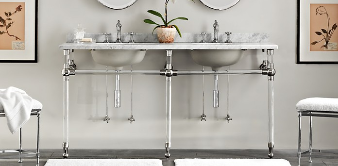 Gramercy Glass CollectionBath Collections   RH. Kent Bathroom Vanity Restoration Hardware. Home Design Ideas