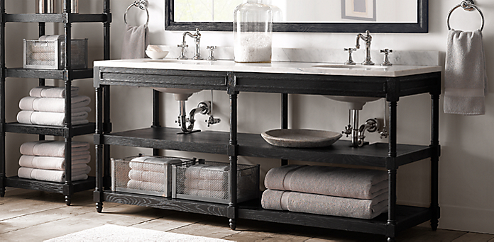 Weathered oak washstand collection