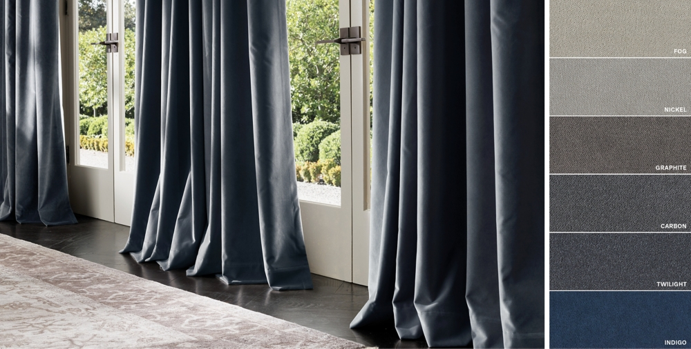 Image result for DARK NAVY RAW SILK CURTAINS