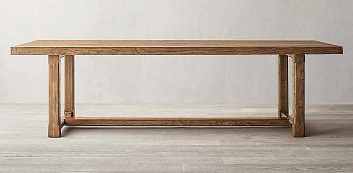 Pleasing Rectangular Table Collections Rh Interior Design Ideas Inesswwsoteloinfo
