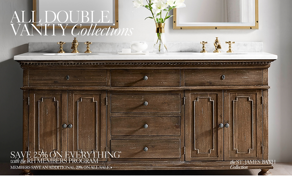Bathroom Vanity Virginia Beach all vanities & sinks | rh