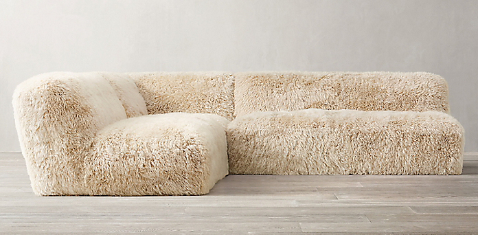 Yeti Sheepskin Sectional Collection Rh