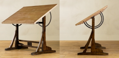 Exceptionnel 1920s French Drafting Table Collection