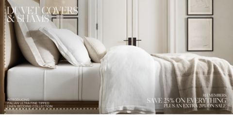 Restoration Hardware Duvet Cover Linen