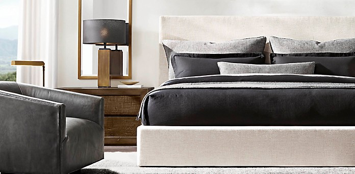 Remarkable Sullivan Platform Fabric Bed Collection Rh Creativecarmelina Interior Chair Design Creativecarmelinacom