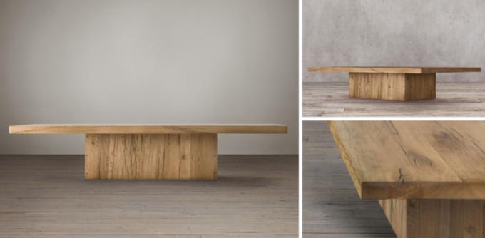 Lovely Reclaimed Russian Oak Plinth Collection
