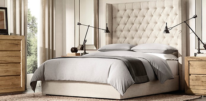 adler shelter diamond tufted fabric platform bed rh