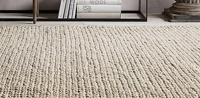 chunky braided wool rug collection | rh