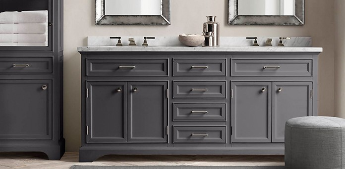 Kent Bath Collection   Charcoal Polished Nickel   RH. Kent Bathroom Vanity Restoration Hardware. Home Design Ideas
