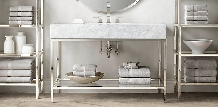 . Hudson Bath Collection   Polished Nickel   RH