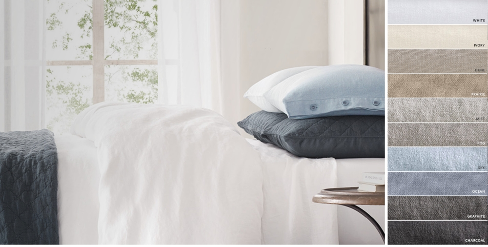 Garment Dyed Textured Linen Bedding Collection Free Shipping. Bedding Collections   RH