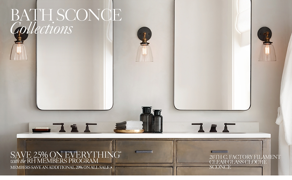 Bath Lighting Sconces all bath lighting | rh