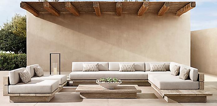 Solid Teak Rh, Restoration Hardware Inspired Patio Furniture
