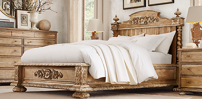 Bedroom Sets Restoration Hardware french empire collection - antiqued natural | rh