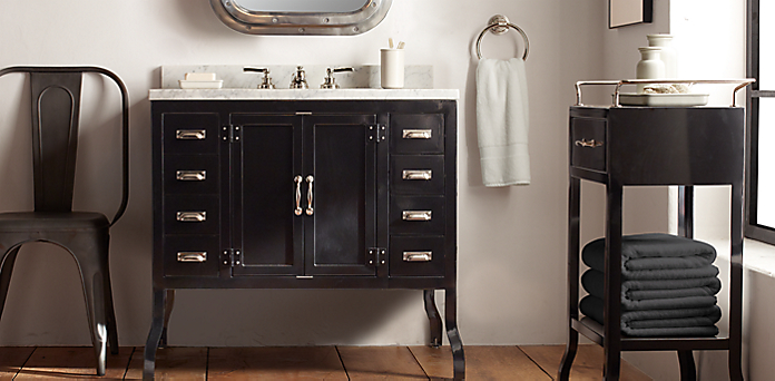 Pharmacy CollectionBath Collections   RH. Kent Bathroom Vanity Restoration Hardware. Home Design Ideas