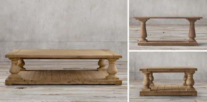 Inspirational Balustrade Salvaged Wood Collection New Design - Amazing restoration hardware salvaged wood table Plan