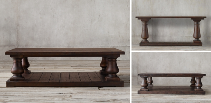 Balustrade Salvaged Wood Collection - restoration hardware salvaged wood table