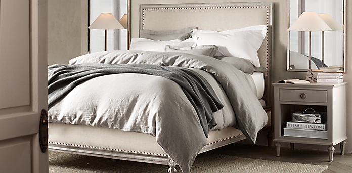 taupe bedroom.  Maison Bedroom Collection Antiqued Taupe RH
