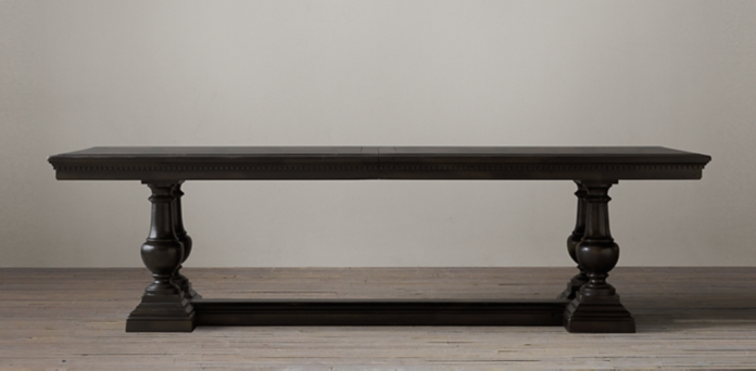 rectangular table collections | rh Black Dining Table