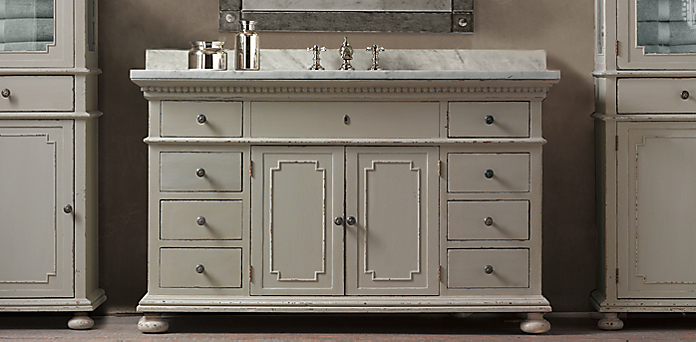 St James Bath Collection Antiqued Taupe Restoration