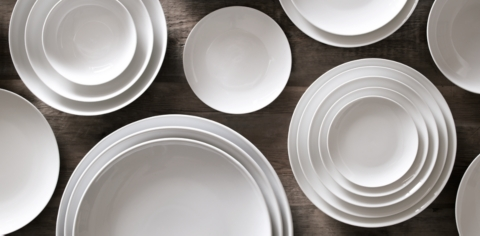 Chinese Porcelain Classic Coupe Dinnerware Collection & Chinese Porcelain Classic Coupe Dinnerware Collection - White | RH