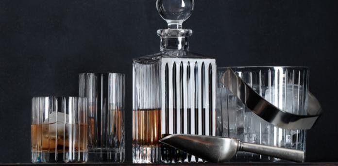 boulevard cut crystal barware collection | rh