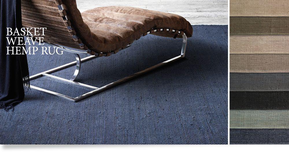 Natural Hide Sisal Rug : Basketweave Hemp