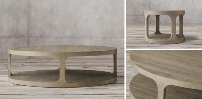 martens round collection - aged elm | rh
