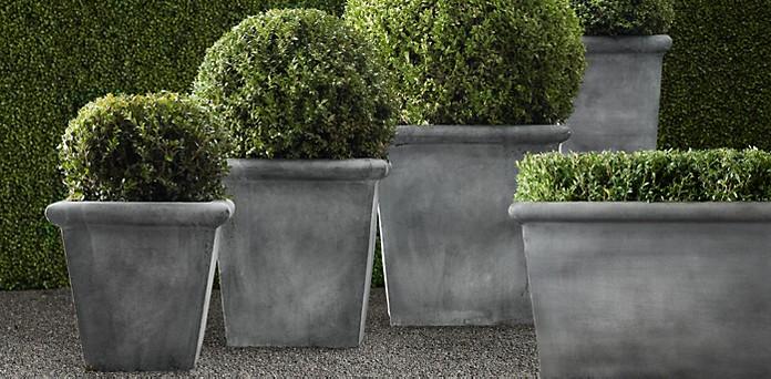 Zinc Planters Rh
