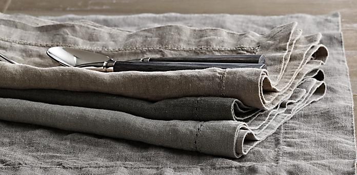 Stonewashed Belgian Linen Hemstitch Collection | RH
