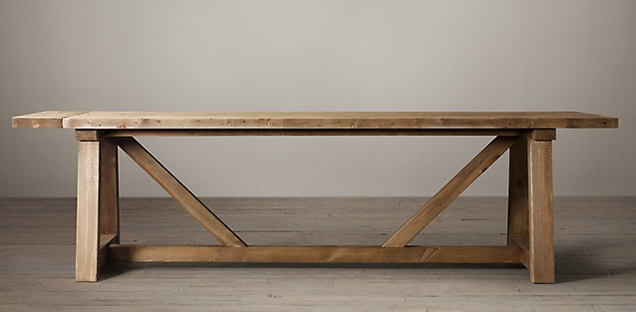 Salvaged Wood Beam Collection Salvaged Natural RH - Barn wood picnic table