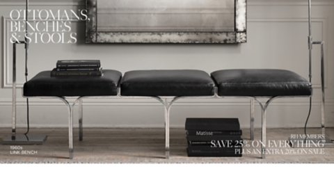Leather Ottomans Benches and Stools & Ottomans Benches u0026 Stools | RH islam-shia.org