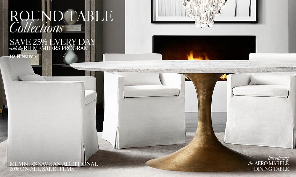 Round table collections rh - Restoration hardware entry table ...